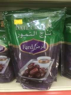 Kurma Import UAE Dates Crown Fard 500g & 250g