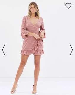 Atmosphere Pink Wrap Frill Dress