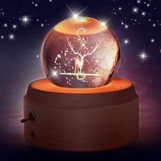 鹿🦌發光水晶球音樂盒🔮