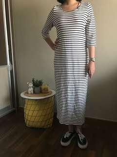 esprit stripes midi dress