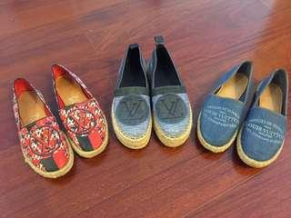 Louis Vuitton LV slip on loafer shoes summer sandal Chanel Kenzo Tory Burch