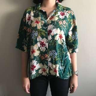 pull and bear hawaiian print shirt