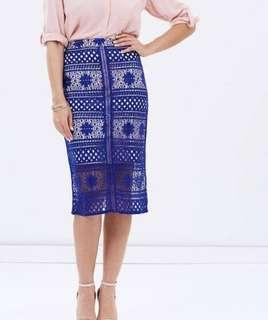 Dorothy Perkins Women's Lace Blue Skirt