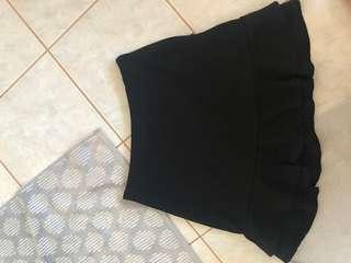 black low ruffle skirt