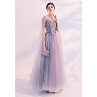 Gown Collection - Fantasy Fairy Sleeves Design Embroidered Lace Gown