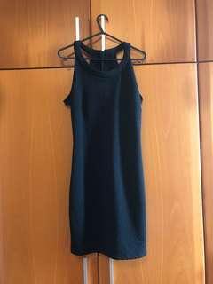 Cross back little black dress