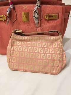 🚚 橘粉色手拿包