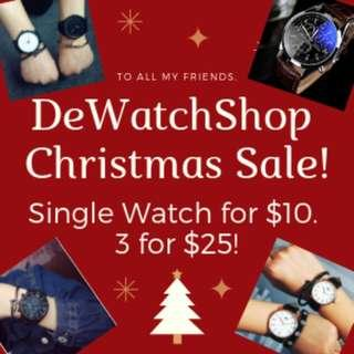🚚 Fashion Watches Christmas Sale by Dewatchshop