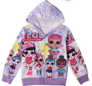 🚚 Kid's jacket hoodie coat LOL frozen unicorn spiderman
