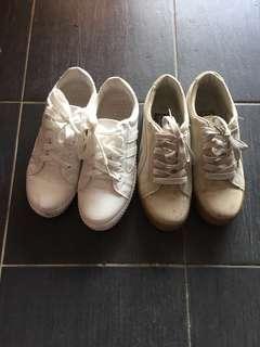 White Grey Sneakers