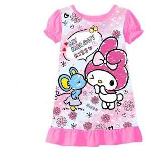 🚚 Hello kitty paw patrol melody frozen shimmer and shine Pyjamas dress