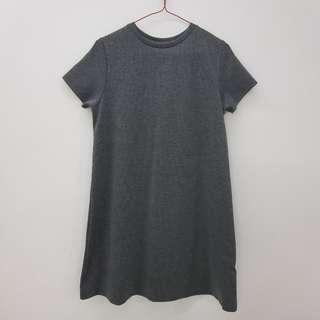 🌻FREE NM🌻 P&Co Ribbed Grey Dress With Lace Up Back