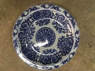 Ming Style Blue and White Plate 明式清花碟