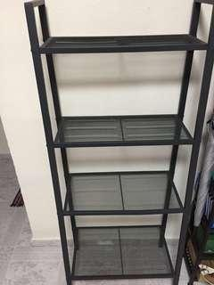 Metal Shelves x 3 and Free coffee table