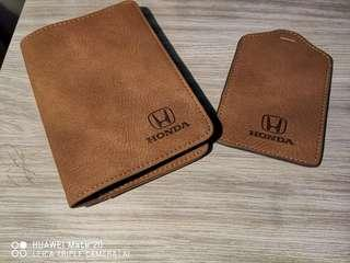 Honda Limited Edition Passport Holder & Tag Holder
