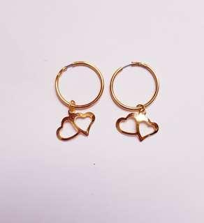 🆕️Gold Small Hoop Earrings with Hearts