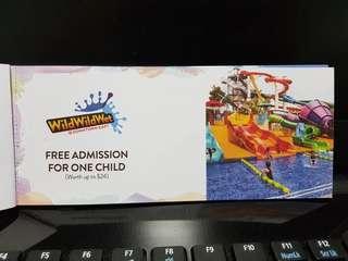 Wild wild wet children ticket
