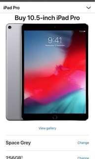 iPad Pro 10.5 inch / 256gb / space gray / WiFi + cellular