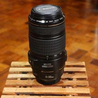 Canon EF 70-300m IS USM f/4-5.6 zoom lens