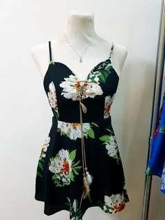 Bohemian boho floral dress