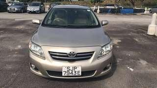 Toyota Corolla Altis for Rent