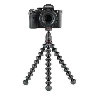 JOBY GorillaPod 1K Kit. Compact Tripod 1K Stand and Ballhead 1K for Compact Mirrorless Cameras or Devices up to 1kg. Black/Charcoal.