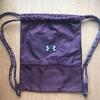 Under Armour Inspired Drawstring Bag Maroon/Purple