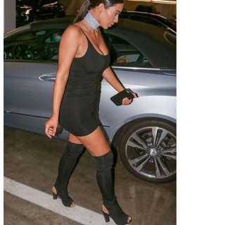 SIREN shoes KAT BOOTS peeptoe Over The Knee RRP $200