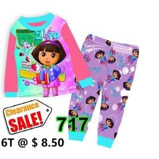 Clearance-- --Dora Long Sleeve Pyjamas  for  6T