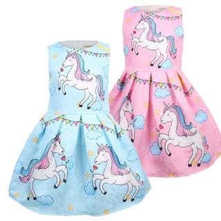 (Pre-order) Unicorn Princess Dress (2 Colours) #607