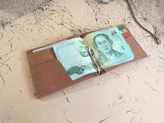 Ready stock Leather Money Clip /Leather Wallet/Purse