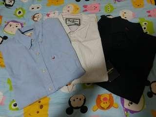 Hollister / Ben Sherman / Pepe Jeans London shirt 短袖 裇衫