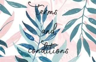 Terms and conditions🐣