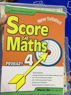 P4 score in maths