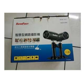 福利品箱子破損 SecuFirst IP-562MP智慧型網路攝影機超值無線2入組合包 隨插即用I 防水P66
