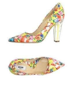 Moschino floral and traffic shoes