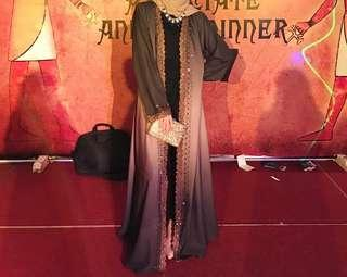 (reduced) dubai abaya/long dress/jubah