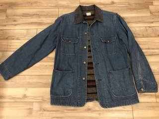 orSlow 50'DENIM COVERALL 2Year Wash jacket粗斜紋布