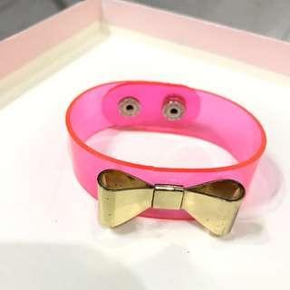 Pink Neon Ribbon Bracelet
