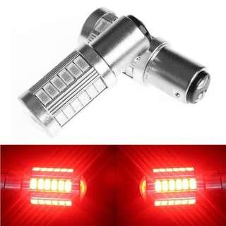 1157 33 SMD Super Bright RED LED for Brake & DRL on Cars and Bikes Light (1PAir)