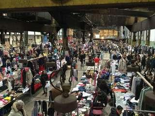 Flea market booth rental