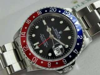 Rare Rolex Stick Error Dial. GMT Master II 16710.