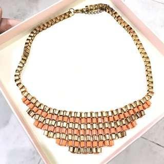 Orange Gold Necklace