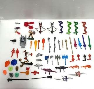 Vintage he man she ra weapon accessories lot