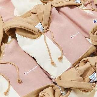 Champion Colorblock Hoodie Pink beige