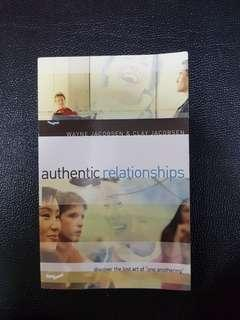 """Authentic Relationships- discover the lost art of """"one anothering"""""""