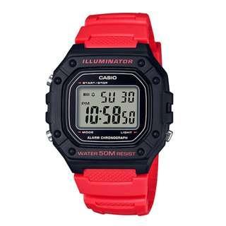 CASIO Digital watch W-218H-4BV 防水 50-meter water resistance