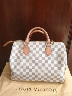 [Reserved] ✔Authentic LV Speedy 30 Damier Azur
