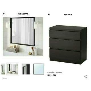 IKEA drawer + mirror