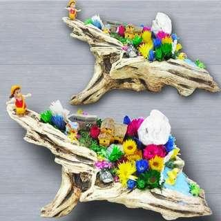 [FREE DELIVERY] Dried Flowers Terrarium (027-GD)